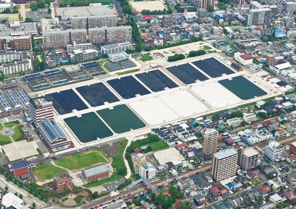 鍋屋上野浄水場 緩速ろ過池築造